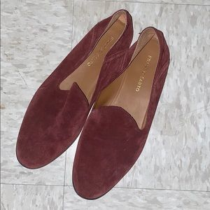 Franco Sarto Blood Red Suede Loafers